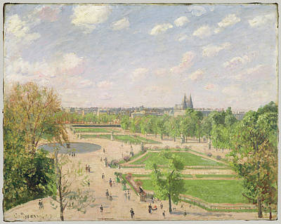 The Garden Of The Tuileries On A Spring Morning Poster by Camille Pissarro