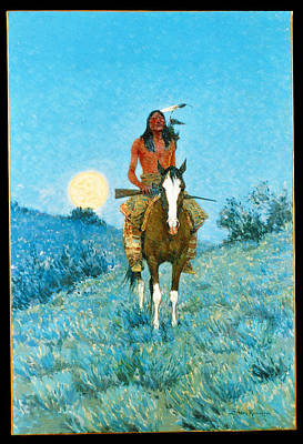 The Outlier Poster by Frederic Remington