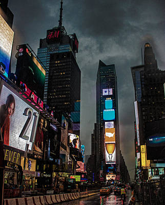 Times Square Nyc Poster by Martin Newman