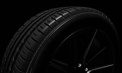 Tire Dark Background Poster