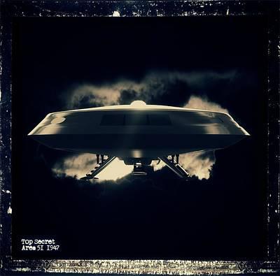 Top Secret Area 51 By Raphael Terra Poster