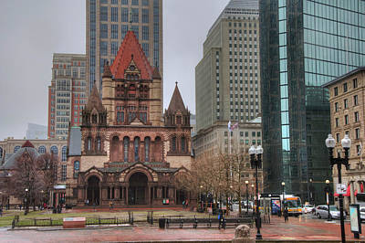Poster featuring the photograph Trinity Church - Copley Square - Boston by Joann Vitali