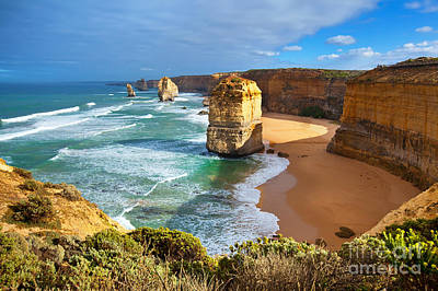 Twelve Apostles Great Ocean Road Poster by Bill  Robinson