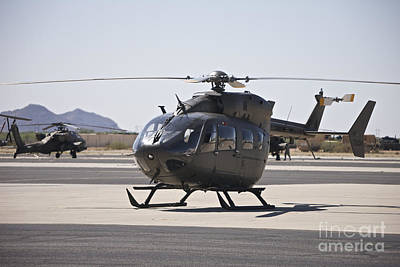 Uh-72 Lakota Helicopter At Pinal Poster by Terry Moore