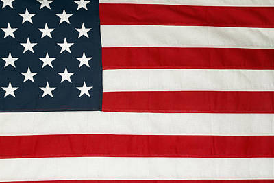 U.s. Flag Poster by Les Cunliffe
