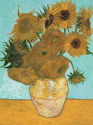 Poster featuring the painting Vase With Twelve Sunflowers by Vincent Van Gogh
