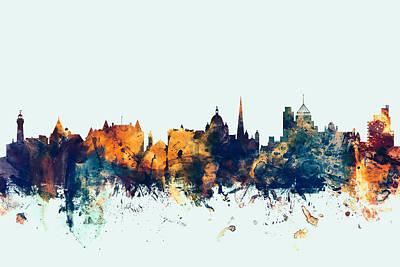 Victoria Canada Skyline Poster by Michael Tompsett