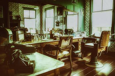 Vintage Barbershop Poster by Skitterphoto