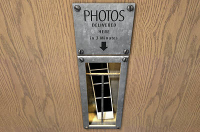 Vintage Photo Booth Pickup Slot Poster