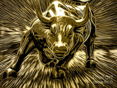 Wall Street Bull Collection Poster