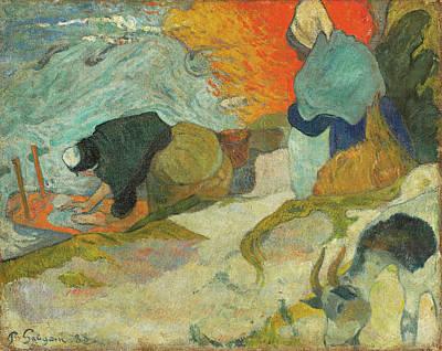 Washerwomen In Arles Poster