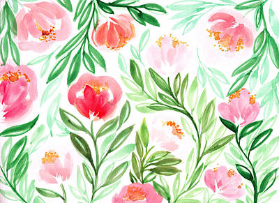 Watercolor Flower Painting Poster