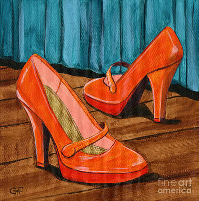 Poster featuring the painting Who Wears These Shoes by Gail Finn
