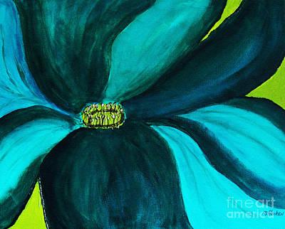 Windmill Flower Poster by Marsha Heiken