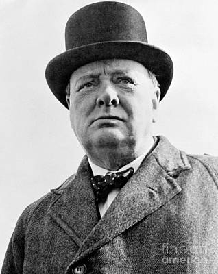Winston Churchill Poster by English School