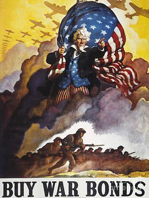 World War II Bond Poster Poster by Granger