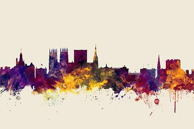 York England Skyline Poster by Michael Tompsett