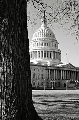 Capitol Hill Building In Washington Dc Poster