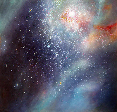 Poster featuring the painting 30 Doradus Nebula by Allison Ashton
