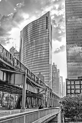 333 W Wacker Drive Black And White Poster by Christopher Arndt