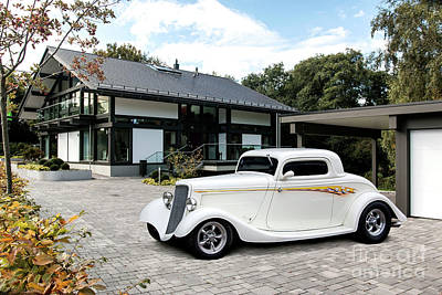 34 Ford 3 Window Coupe Huf Haus Poster by Roger Lighterness
