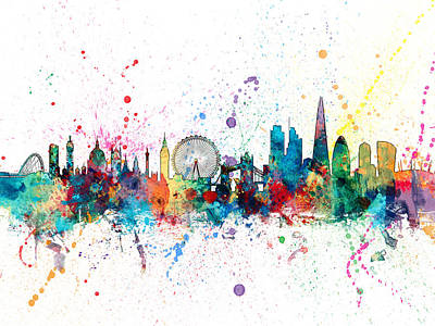 London England Skyline Poster