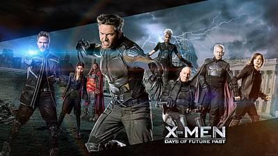 35057 X Men X Men Days Of Future Past Wolverine Magneto Charles Xavier Beast Character Ian Mckellen Movies Mystique Patrick Stewart Kitty Pride Storm Character Hugh Jackman Poster