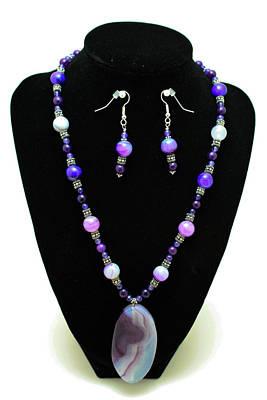 3547 Purple Veined Agate Set Poster