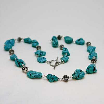 3599 Turquoise Necklace Poster