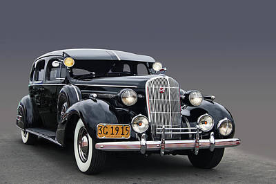 36 Buick 8 Sedan Poster by Bill Dutting