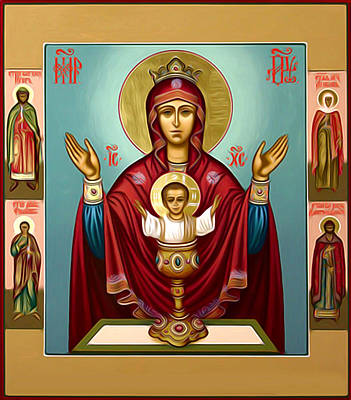Madonna Enthroned Poster by Christian Art