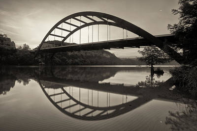 360 Bridge Morning In Sepia Poster by Rob Greebon