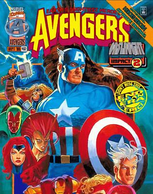 Comics Superhero Poster by Egor Vysockiy