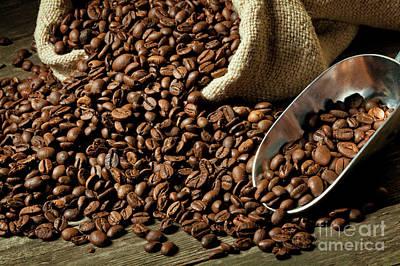 Espresso And Coffee Grain Poster by Gualtiero Boffi
