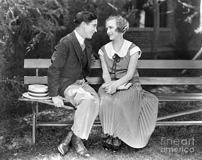 Silent Film Still: Couples Poster by Granger