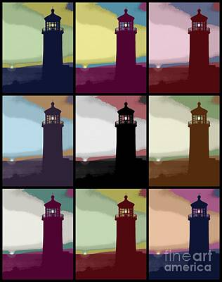 3x3 Lighthouse Poster by RJ Aguilar