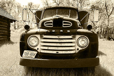 1949 Ford Truck Dashboard Poster by Donald  Erickson