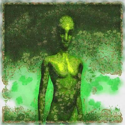 Alien Art By Raphael Terra Poster by Raphael Terra