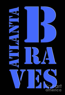 Atlanta Braves Original Typography Baseball Team Poster