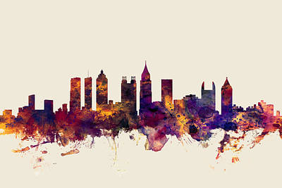 Atlanta Georgia Skyline Poster