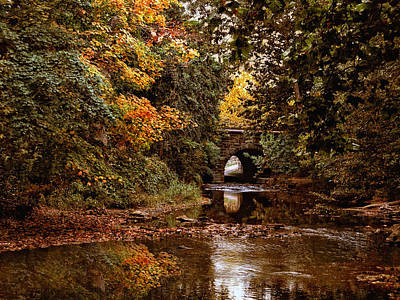 Autumn River View Poster by Jessica Jenney