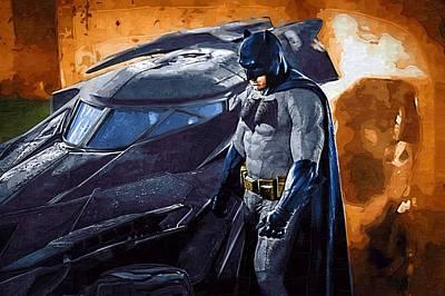 Batman Arkham Asylum Art Poster by Egor Vysockiy