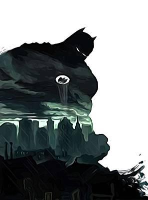 Batman Robin Print Poster by Egor Vysockiy