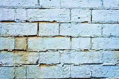 Blue Brick Wall Poster