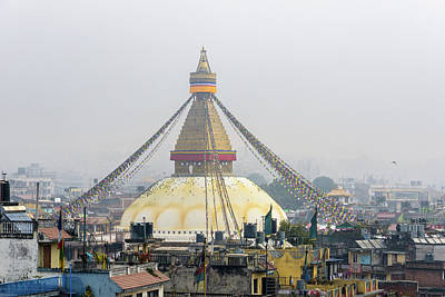 Boudhanath Stupa In Kathmandu Poster