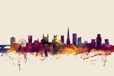 Bristol England Skyline Poster by Michael Tompsett