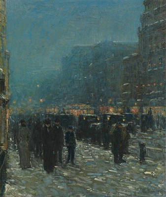 Broadway And 42nd Street Poster by Childe Hassam