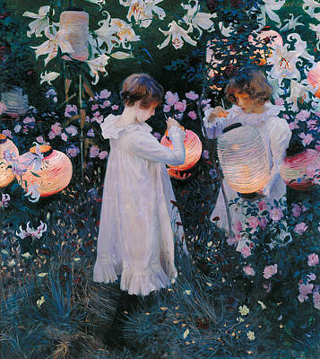 Carnation Lily Lily Rose Poster by John Singer Sargent