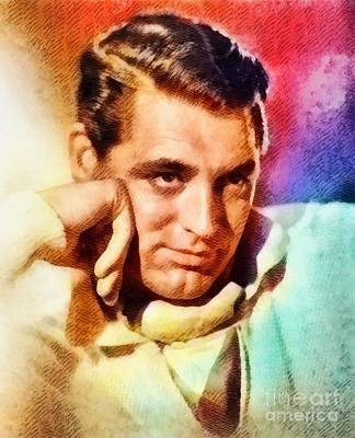 Cary Grant, Vintage Hollywood Actor Poster by John Springfield