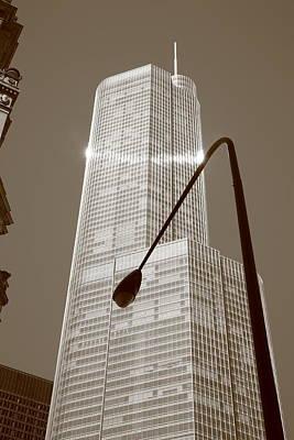 Chicago Skyscraper Poster by Frank Romeo